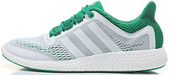 Мужские кроссовки Adidas Pure Boost Chill White/Green, адидас