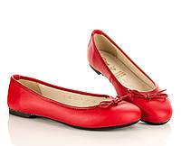 Туфли-балетки красные 30,32,33,34,35 рзм. (Д)
