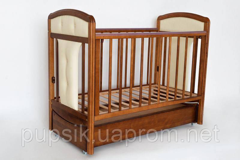 Кроватка детская Birichino Vera (ящик + продольный маятник) орех, Ласка-М