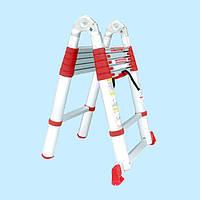 Лестница универсальная раскладная телескопическая INTERTOOL LT-3039 (3,85 м)