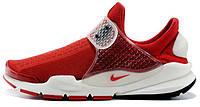 Мужские кроссовки Fragment x Nike Sock Dart Red/White, найк