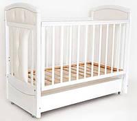 Кроватка детская Birichino Vera (ящик + продольный маятник) белый, Ласка-М