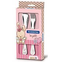 Столовые приборы TRAMONTINA BABY Le Petit pink (66973/015)