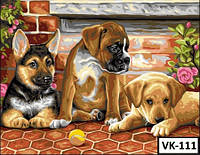 Картина на холсте по номерам VK 111  40x30см