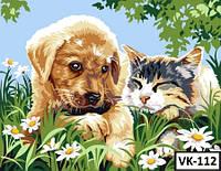 Картина на холсте по номерам VK 112  40x30см