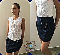 Блуза подростковая атласная без рукавов P3341