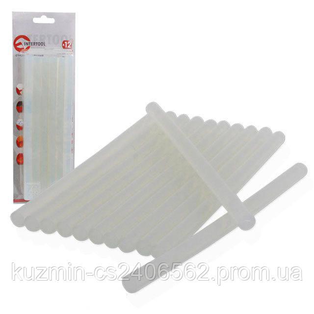 Комплект прозрачных клеевых стержней 11.2 мм*200 мм 12шт INTERTOOL RT-1020