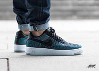 Кроссовки Nike Air Force Ultra Flyknit Low (Black/Blue/Green/Pink)