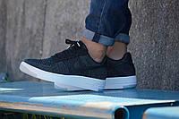 "Кроссовки Nike Air Force Ultra Flyknit Low ""Black/Grey""."