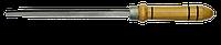 Напильник трехгранный 125мм, № 1 с ручкой TECHNICS