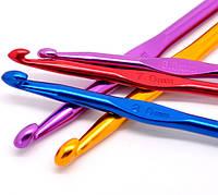 Толстый крючок размер 4,5 мм для ручного вязания алюминевый
