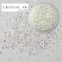 Хрустальная крошка Crystal pixie (аналог) Crystal AB 100 шт.