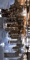 Декор Golden Tile City голубая 300х600