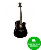 Электроакустическая гитара LAG Tramontane T100DCE-BLK