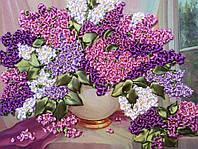 Картина лентами ваза с сиренью 33х41