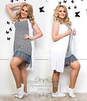Женское летнее нарядное платье большого размера