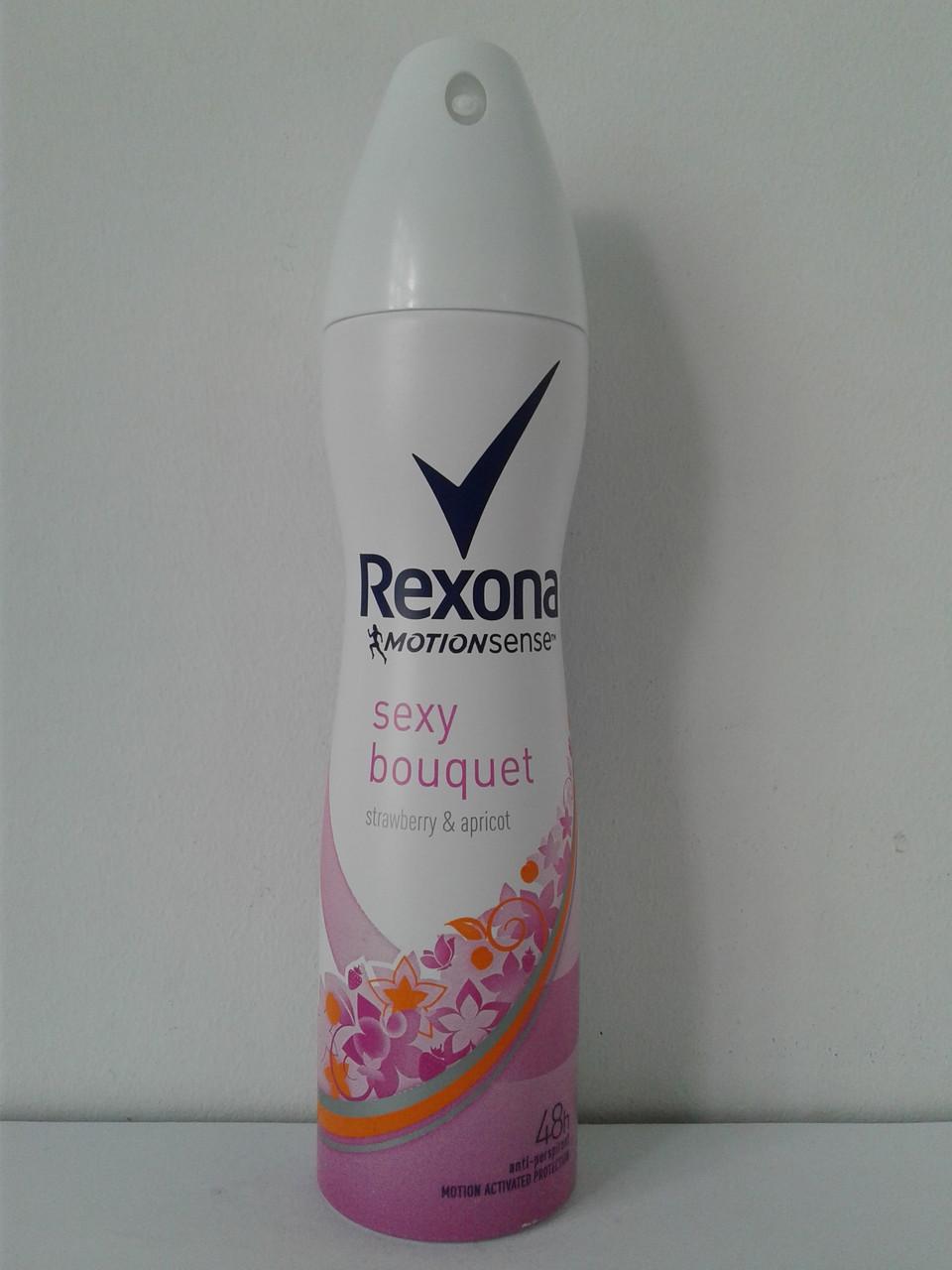 Аэрозольный женский дезодорант-антиперспирант Rexona Sexy bouguet 150 мл. (Рексона Секси)