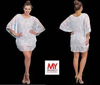 Женское гипюровое платье большого размера