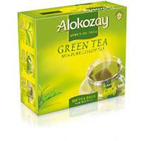 Чай Алокозай зелёный  100 пакетов по 2гр