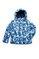 Детская куртка-жилетка для мальчика утепленная (синяя) 5-8 лет