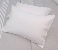 Льняная наволочка  50х70  оршанский лен 100% молочный