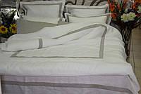 Льняной пододеяльник 200х220 с рамкой