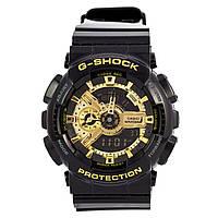 Часы  G-Shock - 110GB, полный комплект, черные с золотом