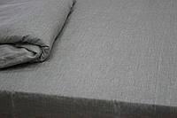 Льняная простыня 240Х260, оршанский лен серый, фото 1