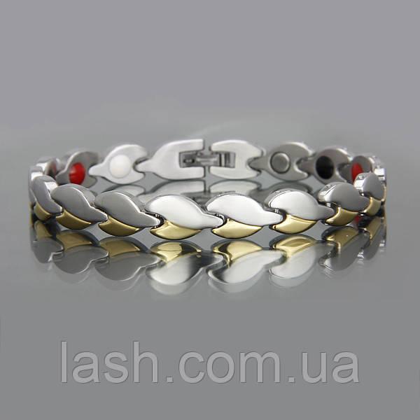Магнитный стальной браслет 8212 -4в1 , фото 1