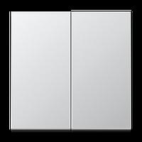 Выключатель 2-й Jung LS 990 Aluminium накладка