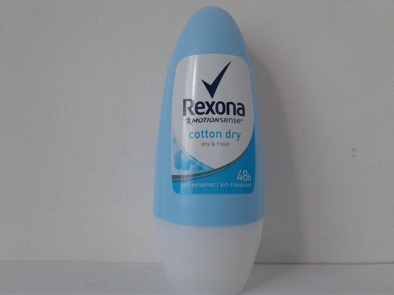 Шариковый женский дезодорант Rexona Cotton dry (Рексона Легкость хлопка) 50 мл.