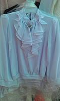 Блузка с красивым воротником жабо