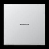Выключатель 1-й с подсветкой Jung LS 990 Aluminium накладка