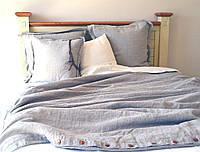 Льняное постельное белье с пуговицами  200х220, фото 1