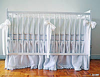 Детская льняная фольбанка в кроватку