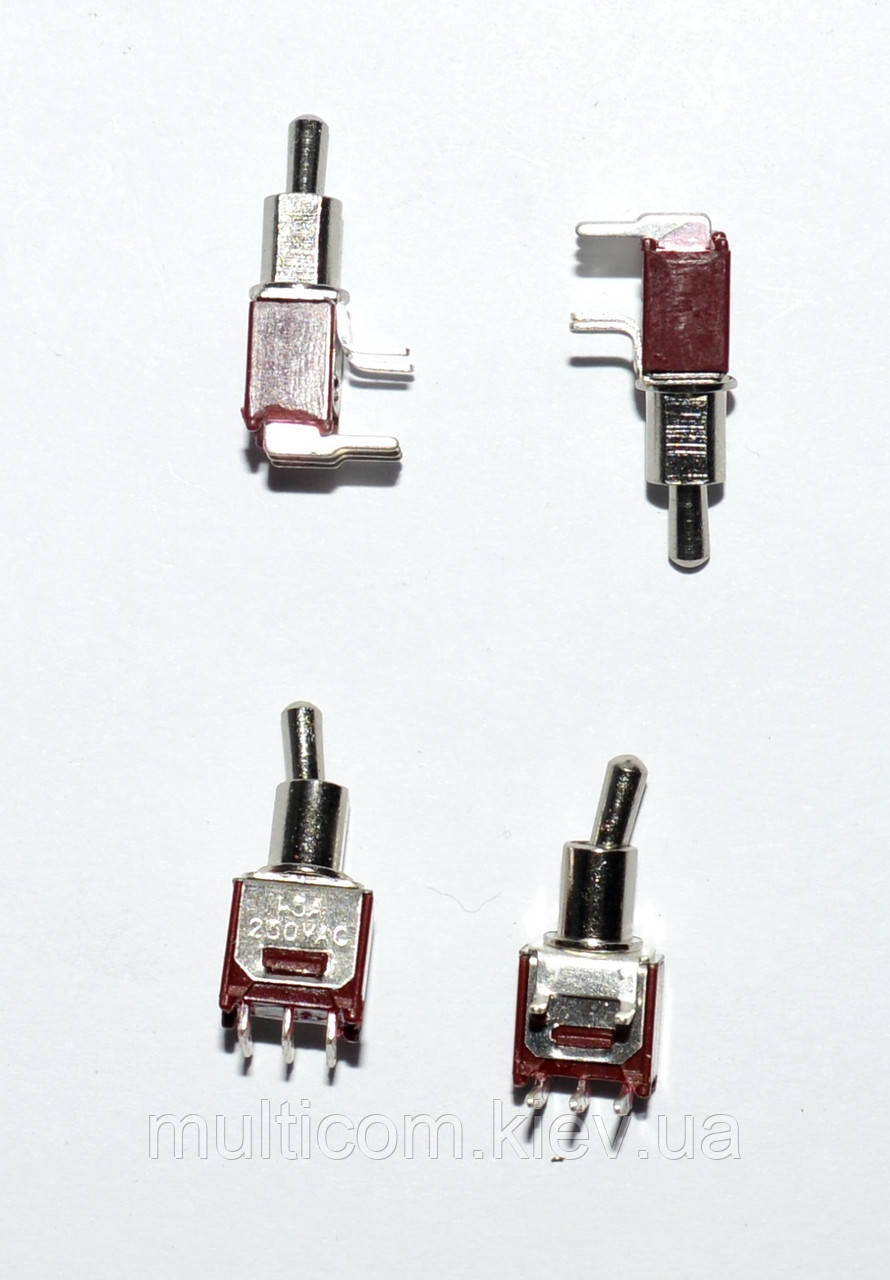 11-00-068. Тумблер SMTS-102-2C3 (ON-ON), 3pin, 3А-125V/1,5A-250V