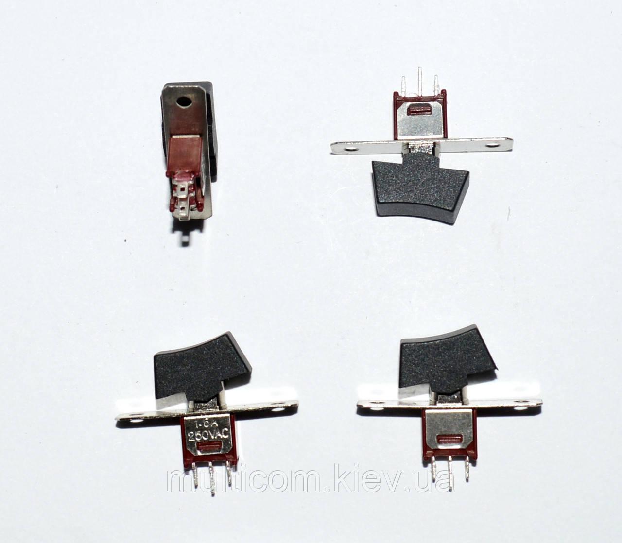 11-00-009. Тумблер с клавишей SRLS-102-A1 (ON-ON), 3pin, 1,5A 250VAC