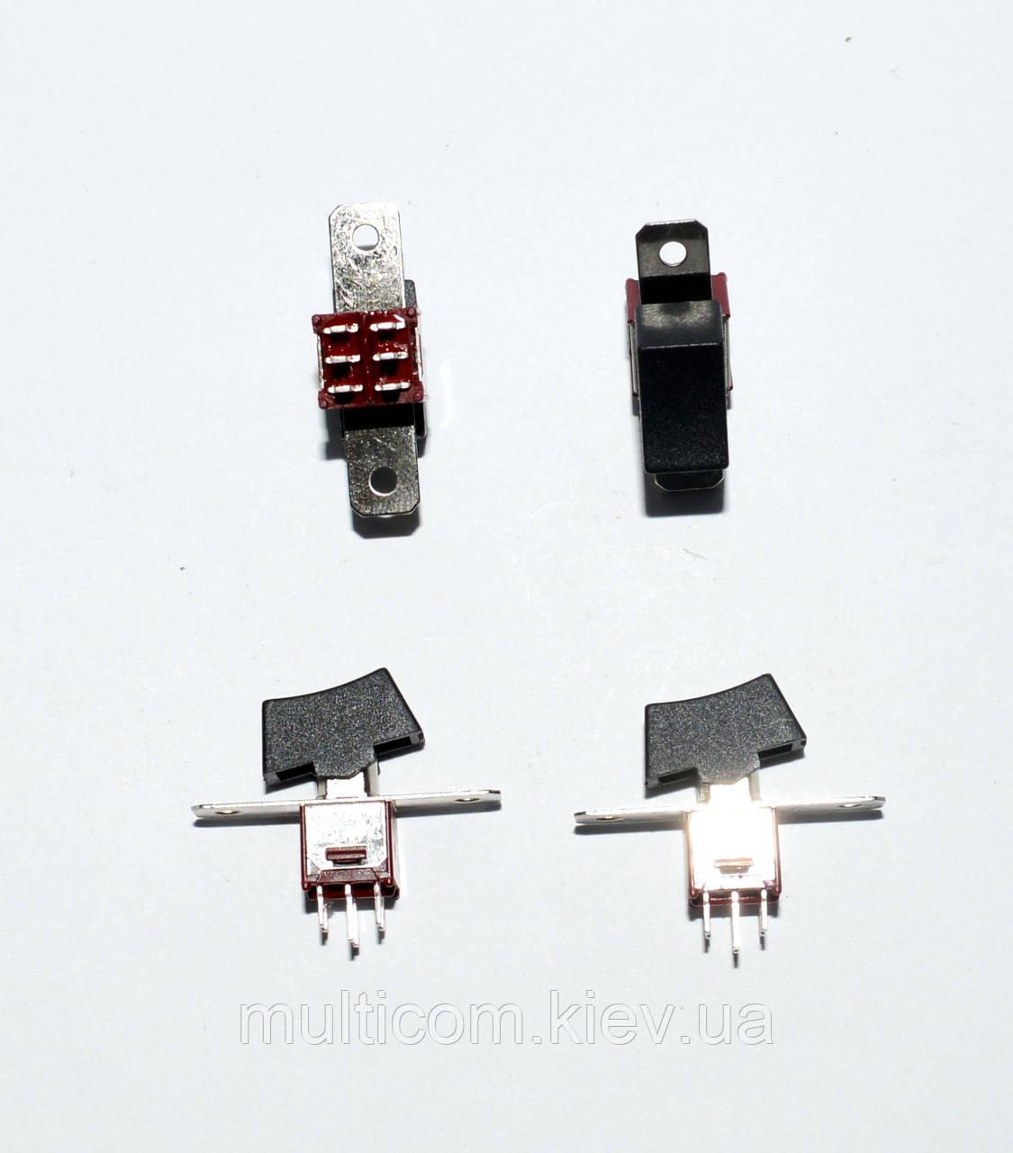 11-00-011. Тумблер с клавишей SRLS-202-A1 (ON-ON), 6pin, 1,5A 250VAC