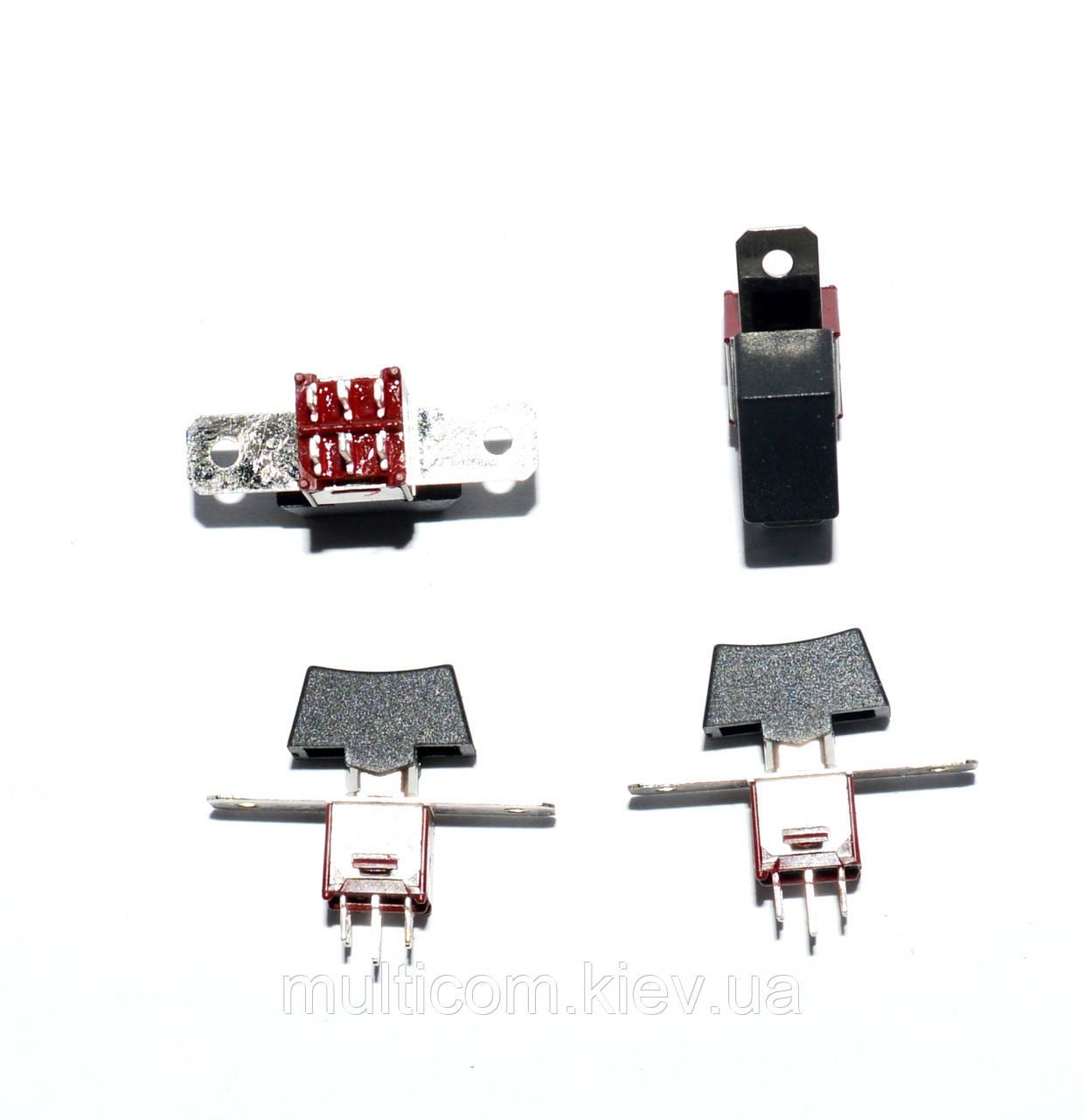 11-00-214. Тумблер с клавишей SRLS-203-A1 (ON-OFF-ON), 6pin, 3А-125V/1,5A-250V