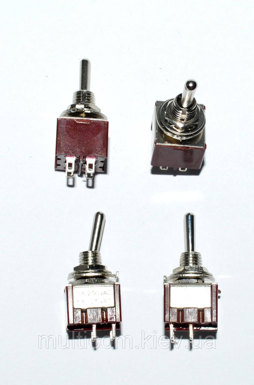 11-00-101. Тумблер MTS-201 (ON-OFF), 4pin, 6А-125V/3A-250V