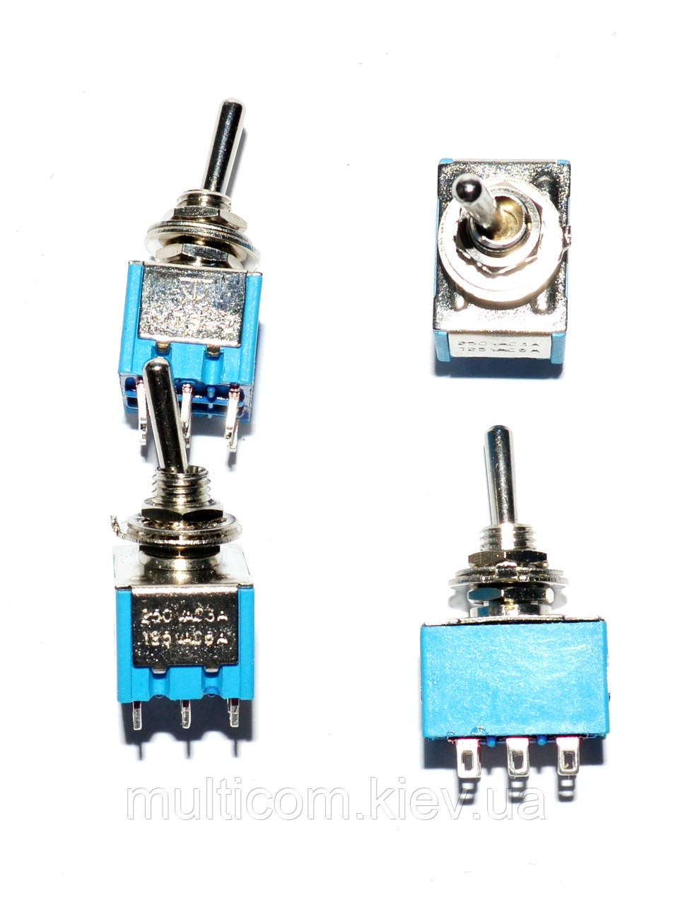 11-00-020. Тумблер MTS-302 (ON-ON), 9pin, 3A 250VAC