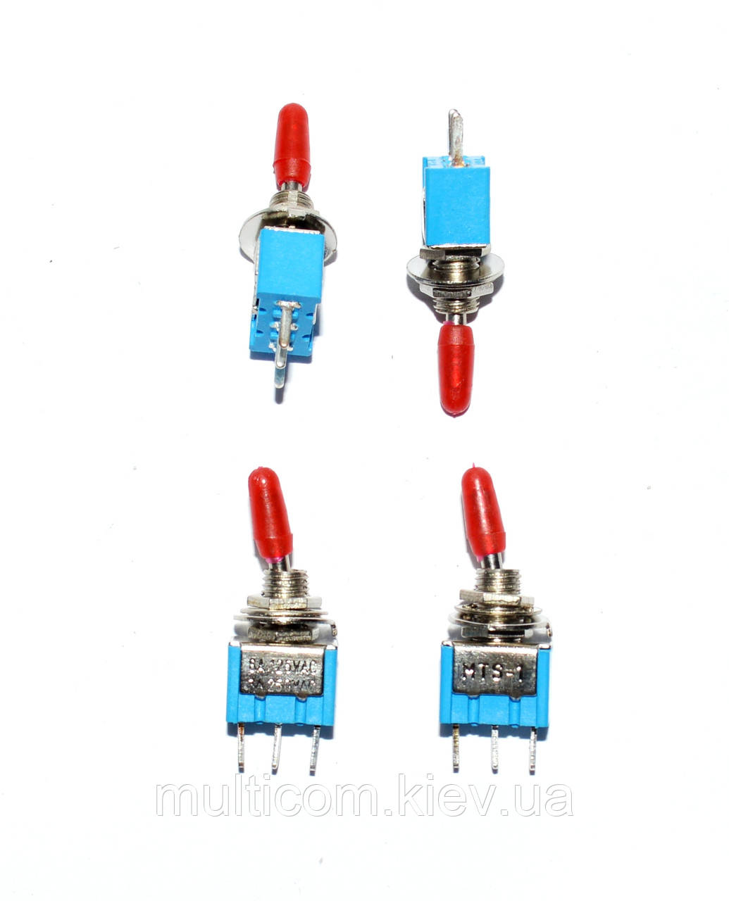 11-00-022. Тумблер MTS-102-A2 (ON-ON), 3pin, 3A 250VAC