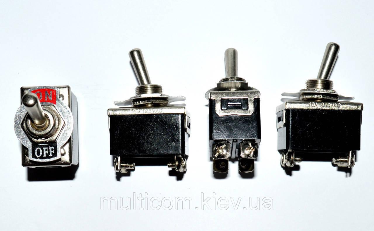 11-00-560. Тумблер KN3(C)-103AP (ON-OFF-ON), 3pin, 15А-125V/10A-250V