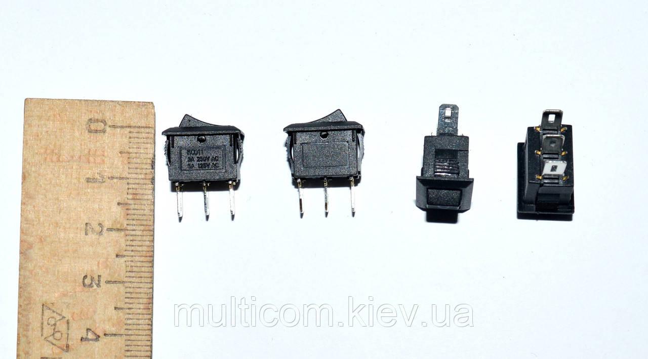 11-04-002. Переключатель mini SMRS-102-1 ON-ON, 3pin, 1A, 220V, чёрный