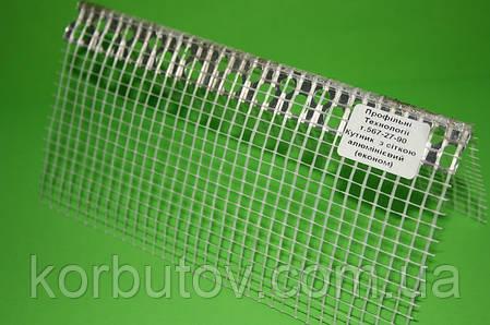Уголок фасадный пластиковый с сеткой, 3м, фото 2
