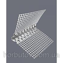 Уголок фасадный пластиковый с сеткой, 3м, фото 3