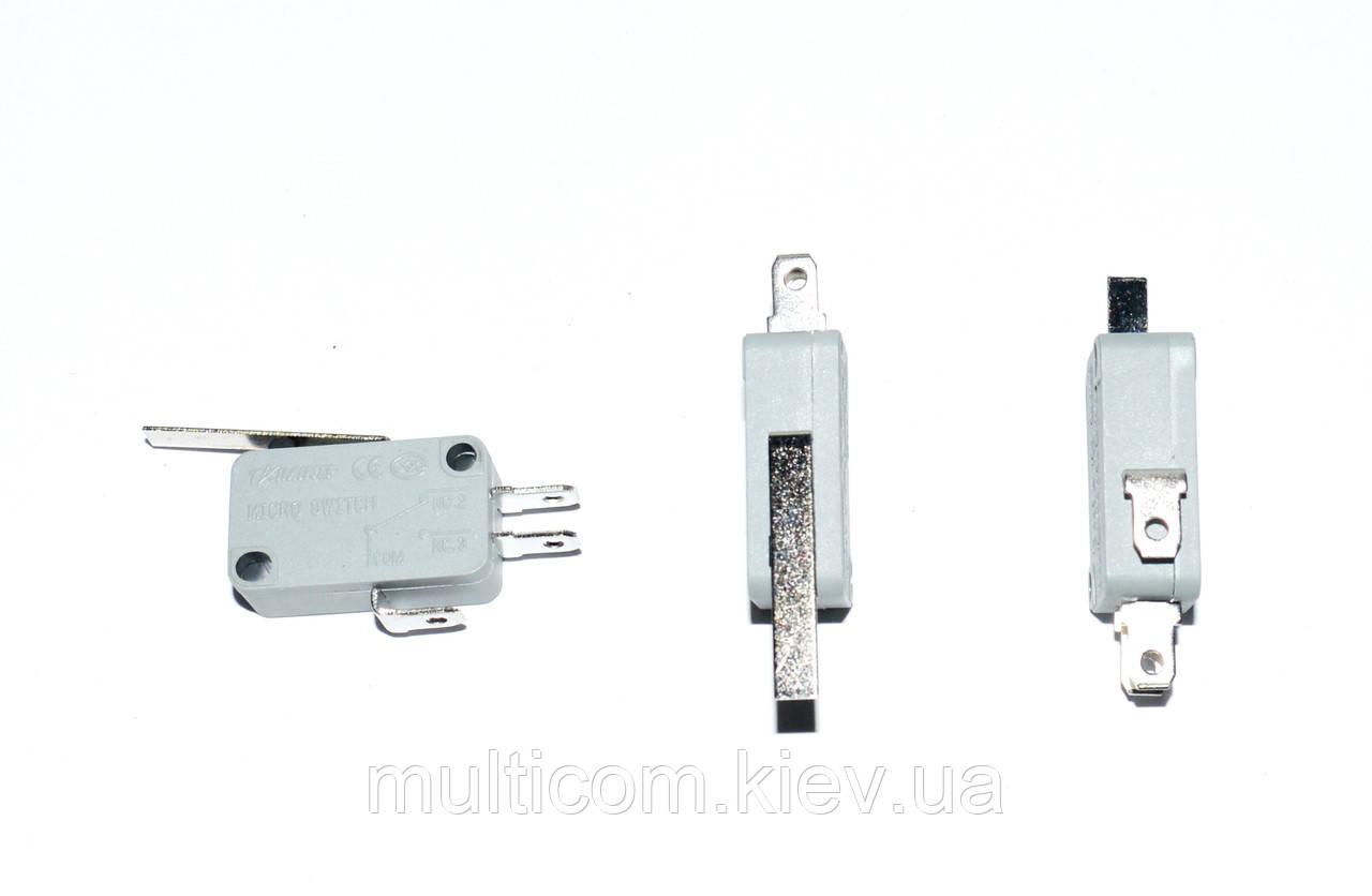 11-07-004. Микропереключатель с лапкой MSW-02 ON-(ON), 3pin, 10A, 125/250VAC