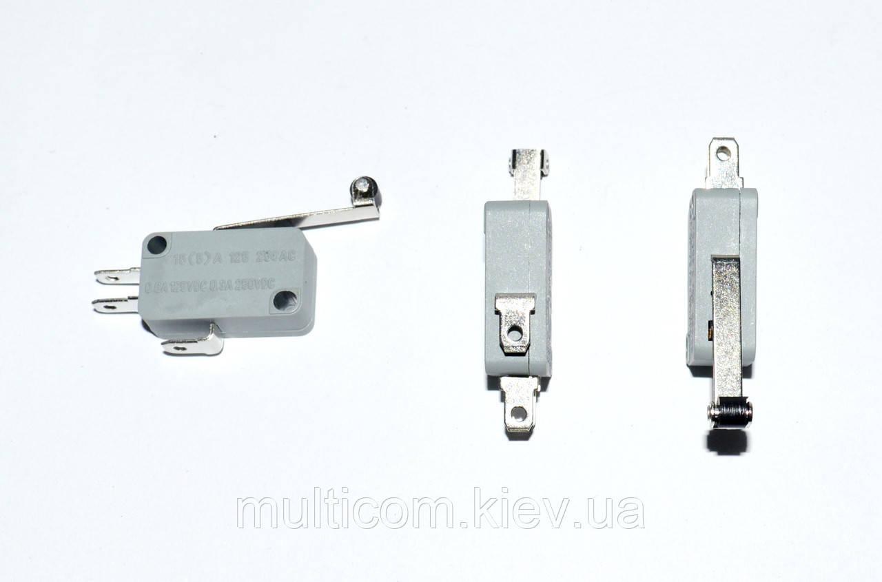 11-07-006. Микропереключатель с роликом MSW-03 ON-(ON), 3pin, 10A, 125/250VAC
