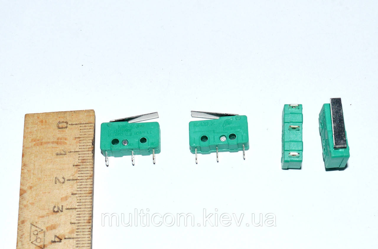 11-07-009. Микропереключатель с лапкой MSW-12 ON-(ON), 3pin, 5A, 125/250VAC