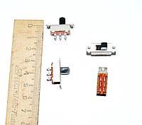 11-0750.  Переключатель движковый KBB40-2P2W ON-ON, 6pin, 0,5A 250VAC